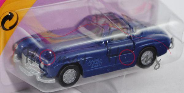 00005 Mercedes-Benz 300 SL (Baureihe W 198, Baumuster 198.040, Modell 1954-1957), saphirblau, innen