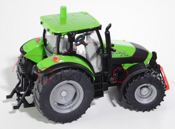 DEUTZ-FAHR Agrotron K 110 Traktor (1. Generation, Modell 2005-2008), gelbgrün, SIKU FARMER, 1:32, L1