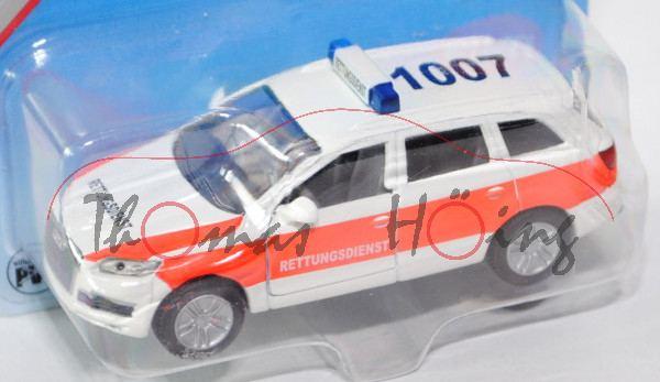 00403 Audi Q7 4.2 FSI quattro (Typ 4L, Modell 2006-2009), reinweiß, RETTUNGSDIENST, P29a (Limited)