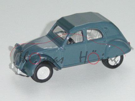 Citroen 2 CV, dunkel-azurblau, 1:54, Norev RETRO, mb