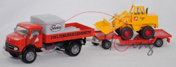 00401 MB Kurzhauber LK 710 mit Pritsche+Tieflader mit KramerAllrad Schaufellader 411, HKL, SIKU, mb