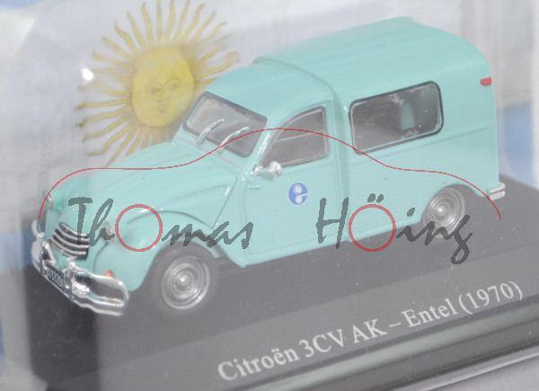 Citroen 3CV Furgón AK (Mod. 69-70), lichtgrün, Entel-Logo, Argentina Comercial Collection, 1:43, mb