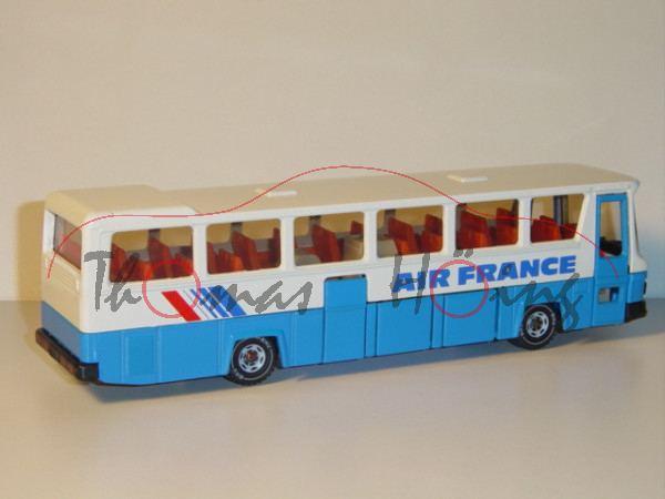 MAN SR 240 - Mitteltür Reisebus, Modell 1975-1992, reinweiß/himmelblau, AIR FRANCE, 2 geschlossene D