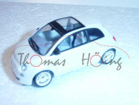 Fiat 500, perlmuttweißmetallic, 1:50, Norev SHOWROOM, mb