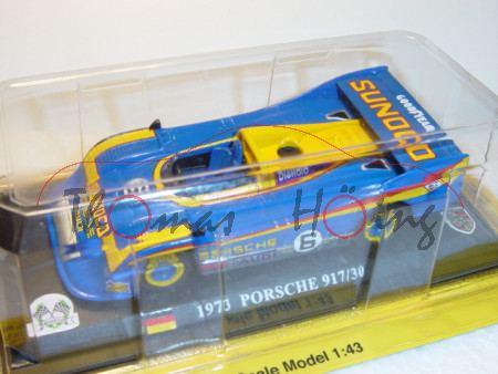 Porsche 917/30, blau/gelb, Team Penske SUNOCO, Can Am Champion 1973, Mark Donohue, Nr. 6, 1:43, mb