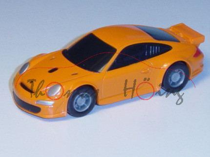 Porsche 911 GT3 RSR, hellrotorange, Pullback, 1:64, Minichamps
