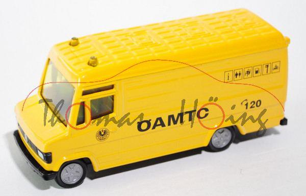 03801 A Mercedes-Benz 809 D (Typ T 2 neu, Modell 86-92) ÖAMTC-Service-Transporter, gelb, SIKU, 1:56