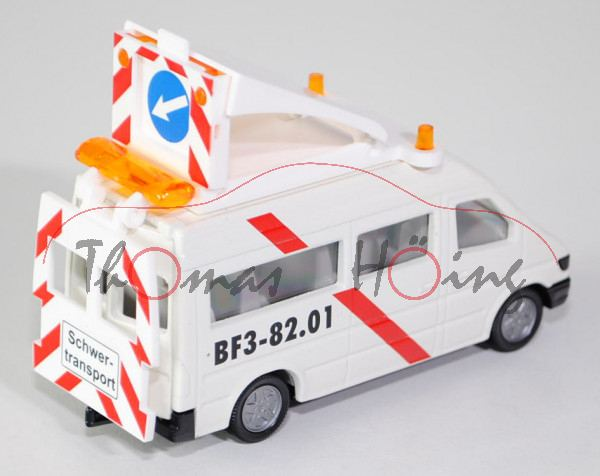 Mercedes-Benz Sprinter (T1N, Baureihe W 901) 212 D / 312 D / 412 D Transport-Begleitschutz, Modell 1