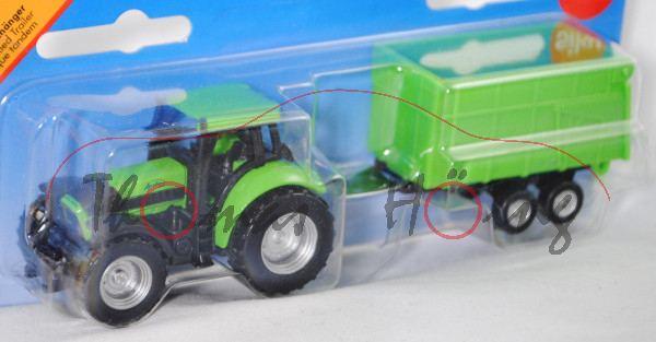 DEUTZ-FAHR Agrotron 265 (Typ MK4, Mod. 03-06) mit Anhänger als Muldenkipper mit Bordwandaufsatz (Tan