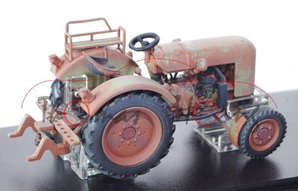 Fendt Dieselross F28, resedagrün/rotbraun, gealterte Ausführung, SIKU FARMER CLASSIC+, 1:32, PC-Box,