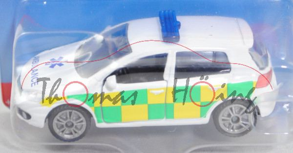00600 GB VW Golf VI 2.0 TDI (Typ 1K, Mod. 2008-2012) Ambulance Car, weiß, AMBULANCE, P29e (Limited)