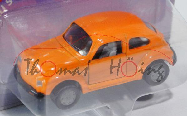 00008 VW Käfer 1303 LS (Typ 13, Modell 1975), pastellorange, innen lichtgrau, Lenkrad lichtgrau, Cha