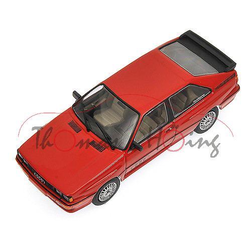Audi Quattro (B2, Typ 85Q, Modell 1980-1982, Baujahr 1981), venusrot, Minichamps, 1:43, PC-Box