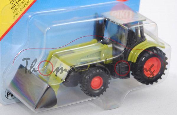 00000 Claas Ares 697 ATZ Traktor (Modell 2005-2008) mit Frontlader, claasgrün/umbragrau/achatgrau, c