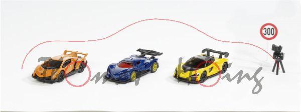 00000 Geschenkset Supercars: Lamborghini + Apollo + McLaren, SIKU, L17mpP (ab 09/2021 lieferbar!!)