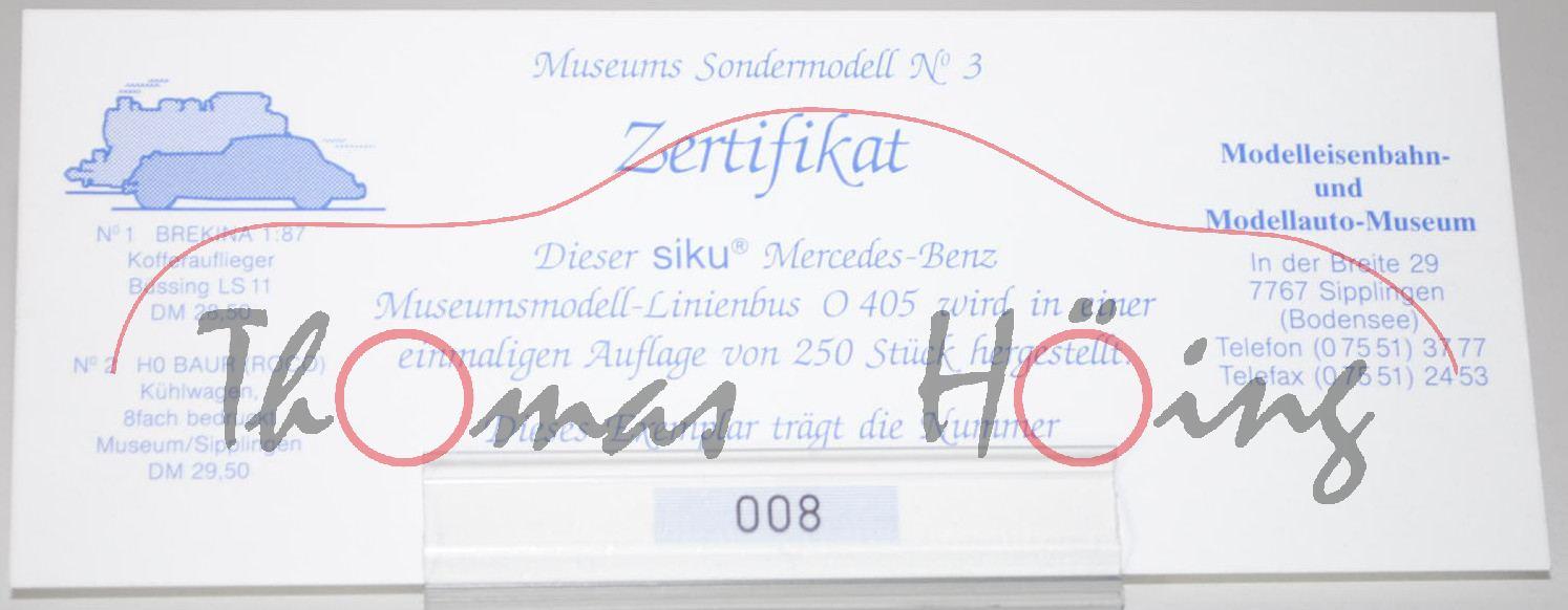 Zertifikat Fr Linienbus Mercedes O 405 N Reinwei Kadmiumgelb Baut Siku Links Modelleisenbahn Und Modellau Produktarchiv Online Shop Automodelle Hing