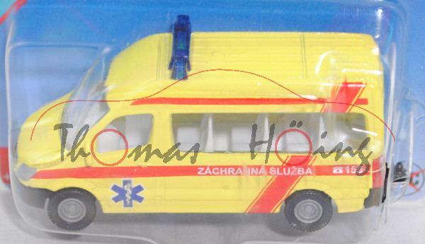 06101 CZ MB Sprinter II (NCV 3, W 906, Mod. 06-13) Emergency Service, gelb, ZÁCHRANNÁ SLUZBA C 155