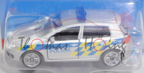 06100 CZ VW Golf VI 2.0 TDI (Typ 1K, Modell 2008-2012) Patrol Car, silber, POLICIE, P29e (Limited)