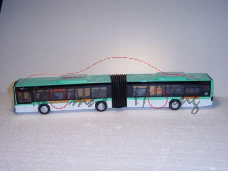 00100 MAN Lion\'s City G Gelenkbus (Typ A23, Modell NG 263), weiß/türkisblau, RATP METRO & BUS PARIS