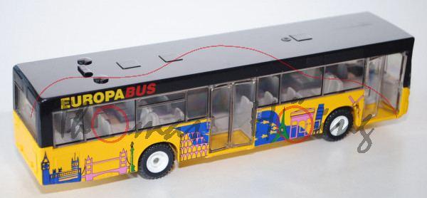 00002 Linienbus, gelb/schwarz, mit Druck von europäischen Warzeichen, L14a/n