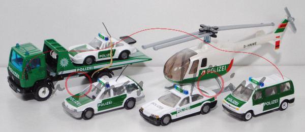 00000 Polizei-Geschenkset: mit VW Passat Variant (Typ B3) Lautsprecherwagen (1321), L15