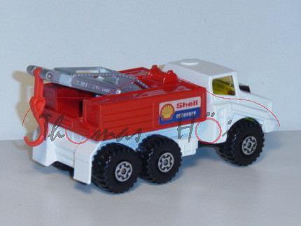 Breakdown Truck, weiß/verkehrsrot/silber, Shell/recovery, Matchbox Super Kings, mb