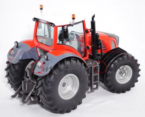 00404 Fendt 936 Vario Traktor (Modell 2006-2010) Profiteam Holzer GmbH, verkehrsrot/hell-umbragrau/h