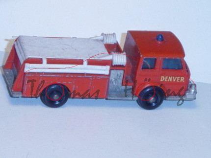 Fire Pumper Truck, blutorange/weiß, DENVER, Matchbox Series
