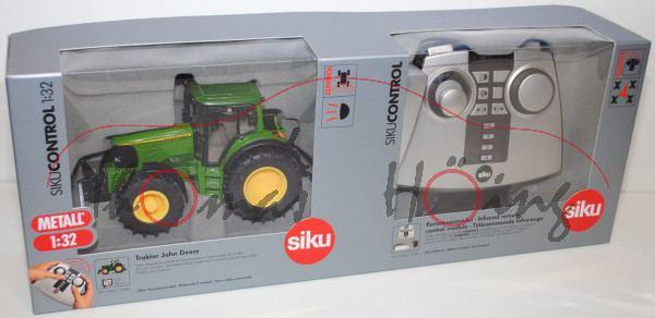 John Deere 6920 S mit Fernsteuermodul, smaragdgrün/gelb, SIKU Control Infrarot-Technologie, 1:32, mi