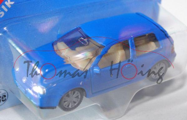 00002 VW Golf IV 1.8 T (Typ 1J, Modell 1997-2003), hell-verkehrsblau, innen sandgelb, Lenkrad sandge