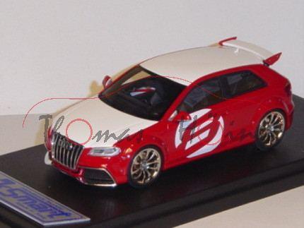 Audi A3 TDI Clubsport quattro 3-türig, Mj. 2008, rot/weiß, Looksmart, 1:43, mb (limitierte Auflage 1