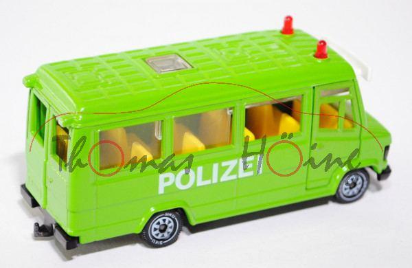 Mercedes-Benz 809 D (Typ T 2 neu, Baumuster: 670) Polizeibus, Modell 1986-1996, gelbgrün, POLIZEI, m