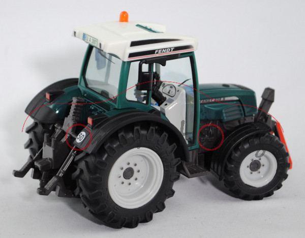 Fendt (Farmer) 208 S Traktor (Modell 2002-2009), cremeweiß/hell-ozeanblau (petrol)/hell-umbragrau/ma