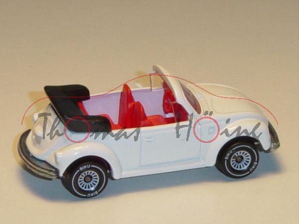 00000 VW Käfer 1303 LS Cabrio (Typ 13, Modell 1975-1979), reinweiß, innen verkehrsrot, Lenkrad verke