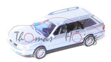 Audi A6 Avant (C4, Typ 4A), Modell 1994-1997, hell-blausilbermetallic, Rietze, 1:87, mb