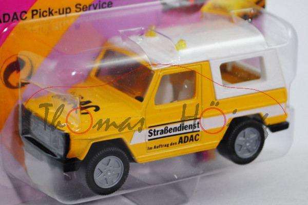 Mercedes-Benz 280 GE (Typ W 460, Modell 1980-1990) ADAC-Pick Up Service, dunkel-kadmiumgelb, innen r