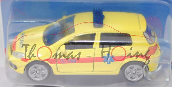 00900 GR VW Golf VI 2.0 TDI (Typ 1K, Modell 2008-2012) Ambulance Car, gelb, C 166 / AMBULANCE, P29e