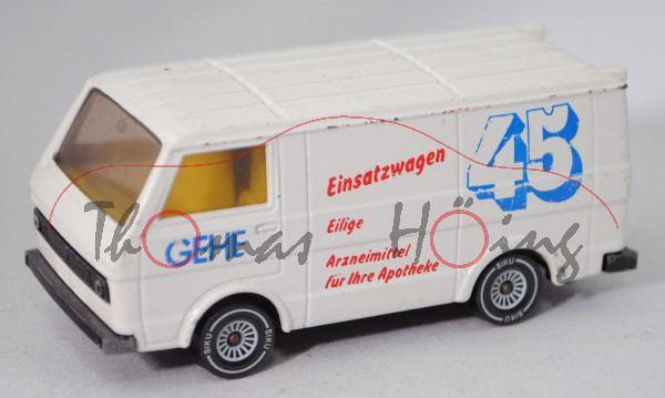 VW LT 28 Kastenwagen 2.0 (1. Gen., Modell 1975-1982), reinweiß, GEHE / Einsatzwagen 45, m-, Limited