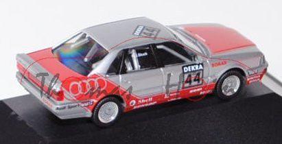 Audi V8 quattro Evo2 DTM (Typ R6, Modell 1991-1992), silber/rot, DTM Saison 1992, Team: SMS, Fahrer: