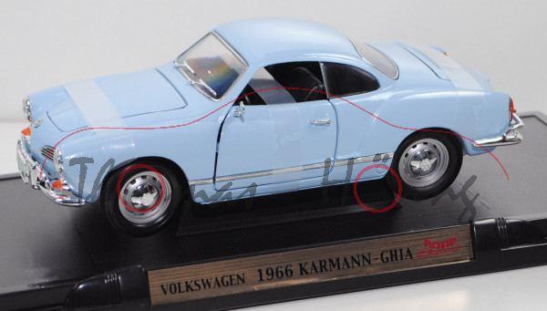 VW Karmann-Ghia Coupé (Typ 14 facelift, Baujahr 1966), bermuda, ROAD Signature / Yatming, 1:18, mb