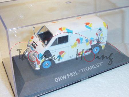 DKW Schnellaster Kastenwagen, cremeweiß, Titanlux, 1:43, mb