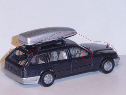 00007 Mercedes-Benz 300 TE (S 124, Baumuster 124.090, Mod. 85-86), schwarzgraumet., innen+Lenkrad li