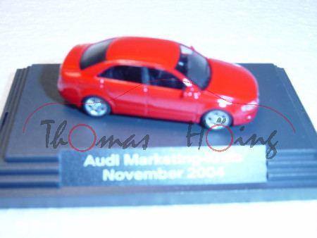 Audi A4 Mj 2004, brillantrot, Audi Marketing-Kreis November 2004, Busch, 1:87, PC-Box