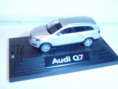Audi Q7, Mj 05, lichtsilber, Wiking, 1:87, PC-Box