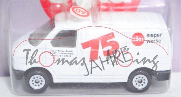 00422 VW T4 Transporter Kasten (Typ 70, Mod. 90-95), weiß, Sieper Werke/75 JAHRE, VW unten, m-b