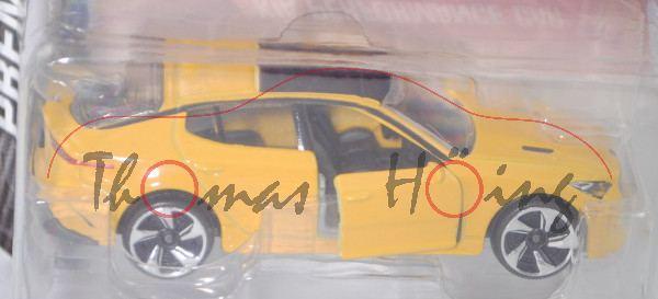 Kia Stinger 3.3 T-GDI AWD GT (Modell 2018-2020) (Nr. 223 A), signalgelb, majorette, 1:61, Blister