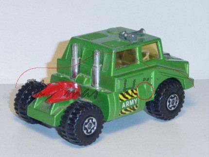 Tank Transporter, grünmetallic, ARMY, Auflieger und Ladegut weg, Matchbox Battle Kings