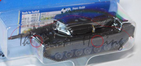 Kampfpanzer Leopard 2A6 mit selbsttragender Panzerwanne und geschweißtem Drehturm (Hersteller: Kraus