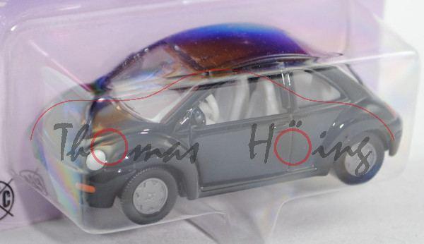 00001 VW New Beetle 2.0 (Typ 9C, Modell 1998-2001), schwarz, innen lichtgrau, Lenkrad lichtgrau, ohn