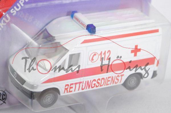 00000c Mercedes-Benz Sprinter (T1N, Baureihe W 901, Modell 1995-2000) Kastenwagen Krankenwagen, rein